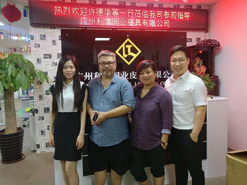 Winson and his partner visited our company and discuss new wallet projects