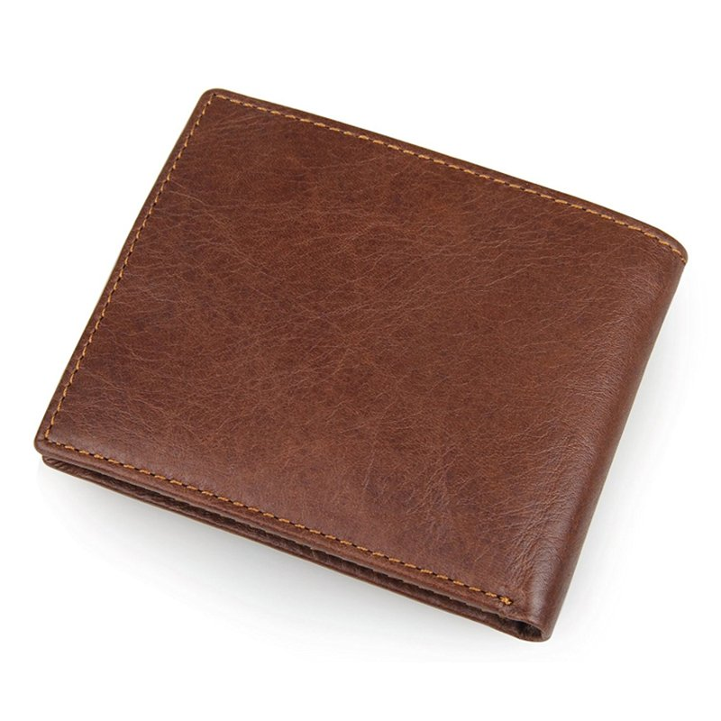 Cowhide Genuine Leather Men's Leather Travel Wallet with Flip ID Window  LT-LW004