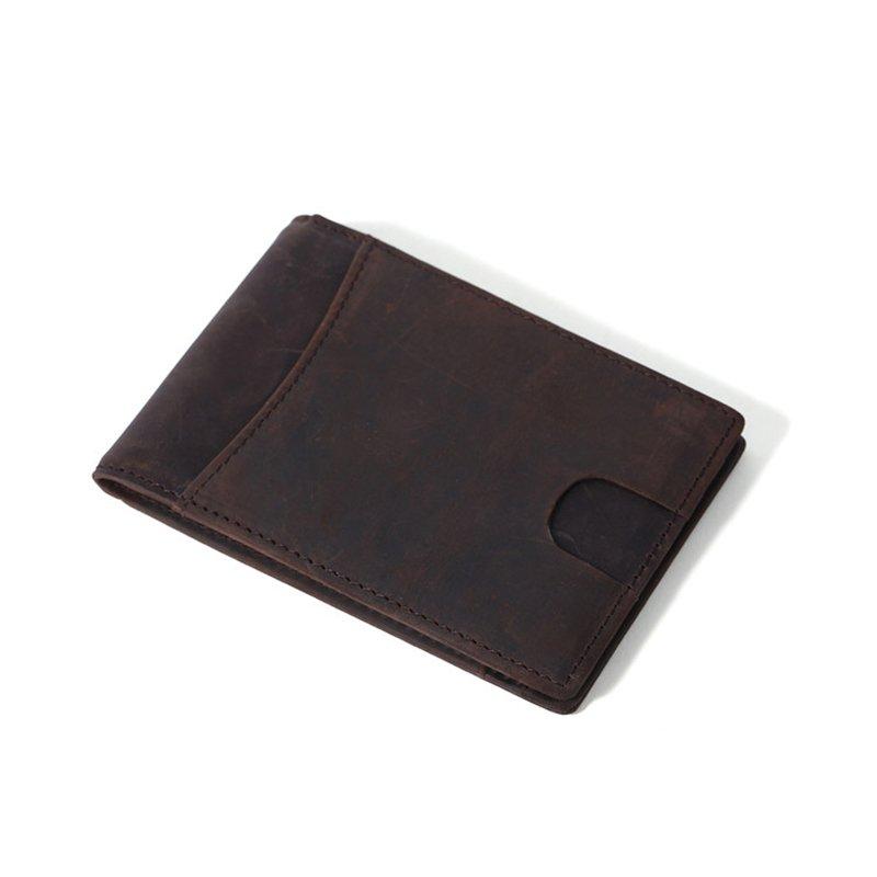 customized leather money clip wallet for men LT-MC002