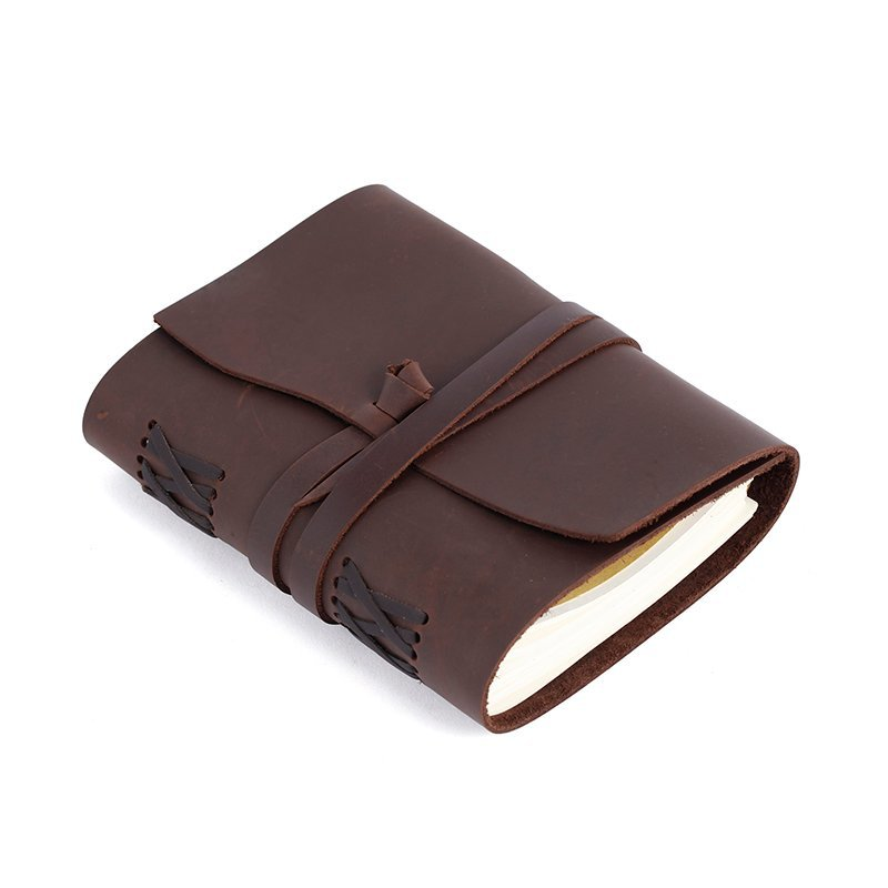 Handmade vintage leather travel Daily journal paper Custom business notebook leather LT-LJ004