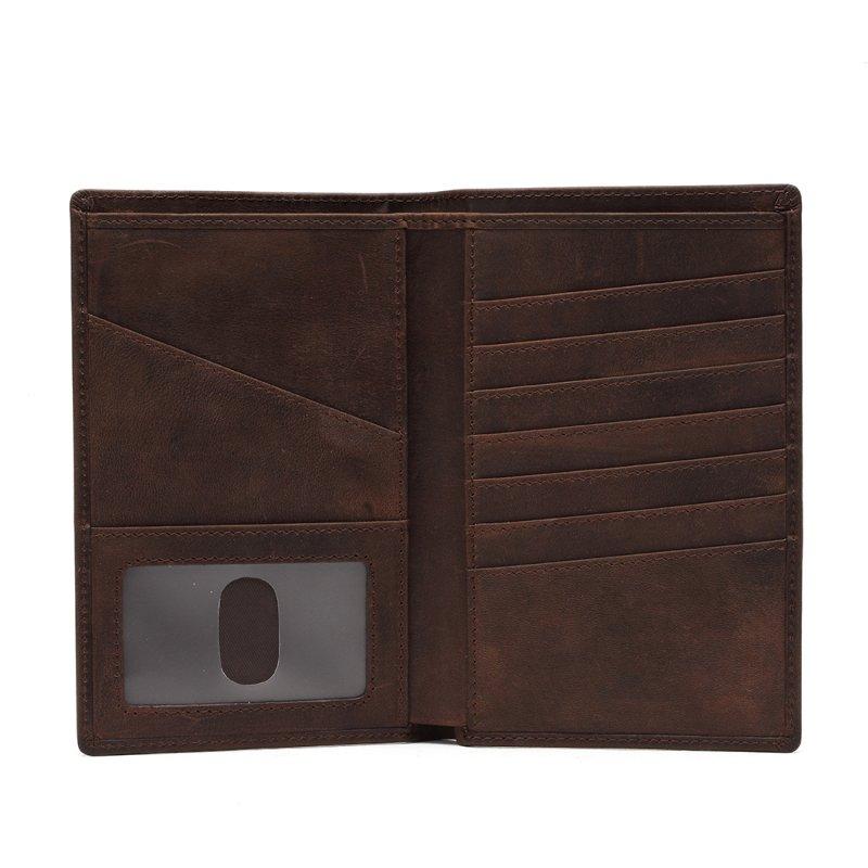 RFID mens leather passport wallet  LT-PH002