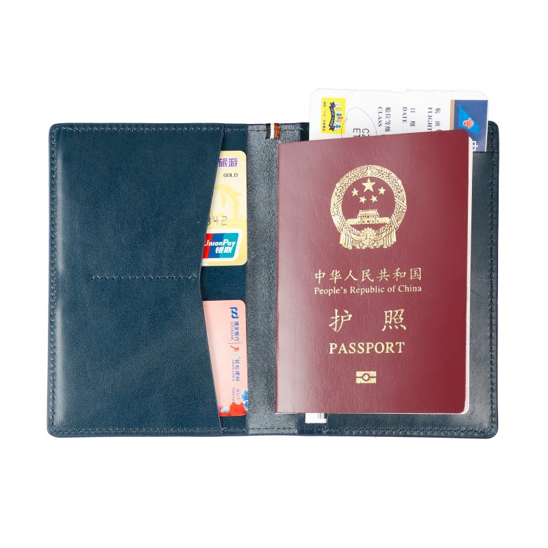 RFID blocking real leather passport holder Italian wallet  LT-PH004