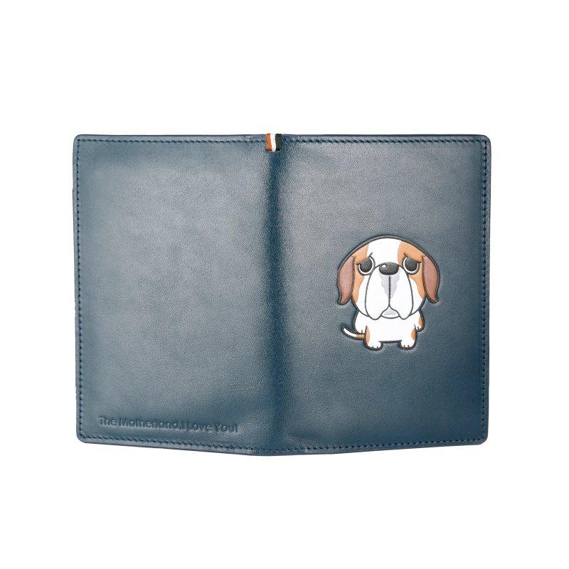 RFID blocking real leather passport holder Italian wallet  LT-PH004