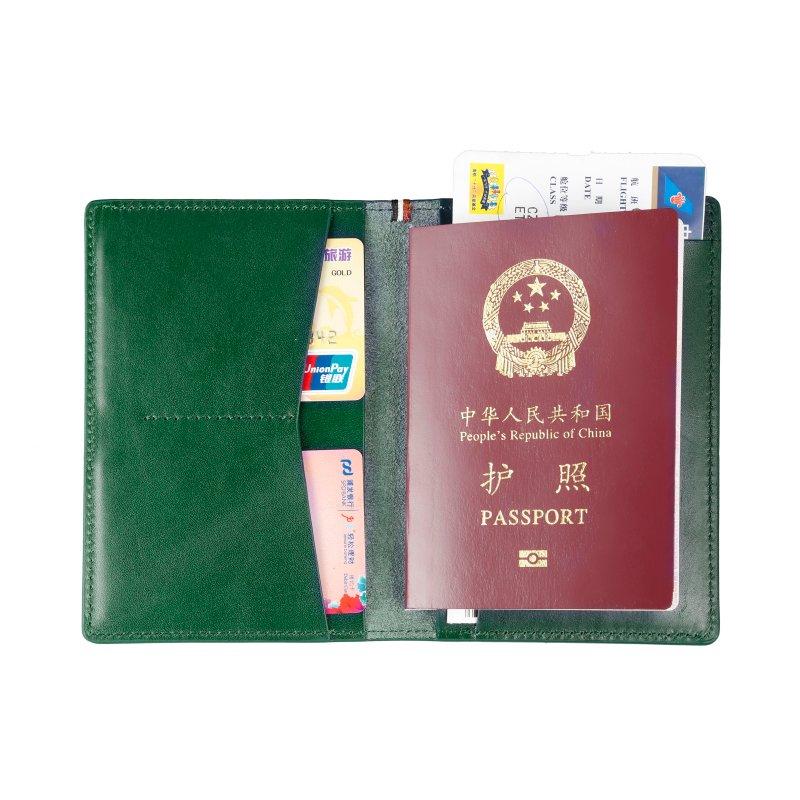 RFID blocking Italian real leather passport holder wallet  LT-PH005
