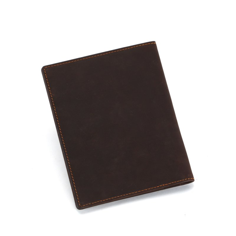 Classic Crazy Horse personalised  leather passport holder slim wallet  LT-PH006