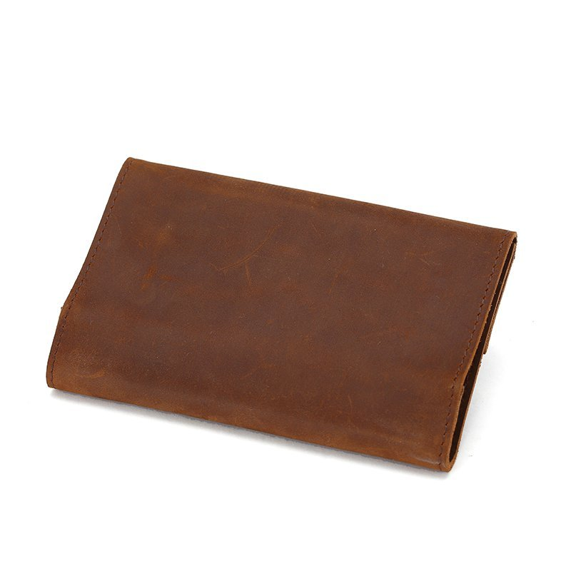 High quailty New Premium crazy horse genuine mens travel leather  tobacco pouch leather laptop sleeve