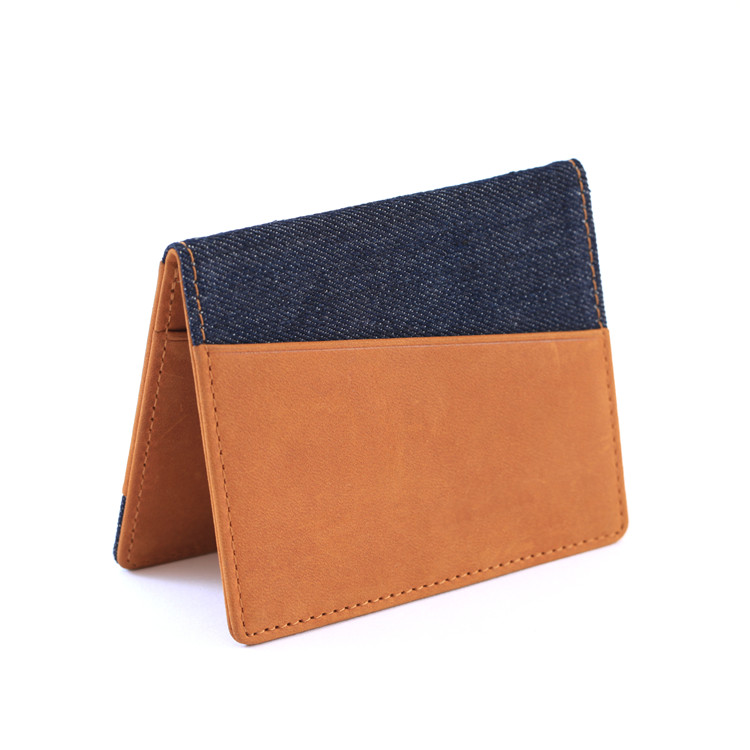 genuine leather super slim fashion men smart business credit card holder bifold rfid blocking leather travel wallet