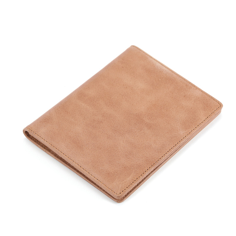 Vintage Style Leather passport case slim mens wallet  LT-PH007