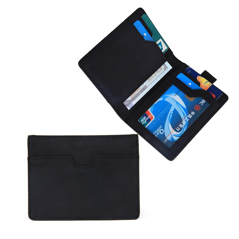 Wallets for Men Slim Mens leather RFID Blocking Minimalist Card Front Pocket Bifold Travel Thin Wallet