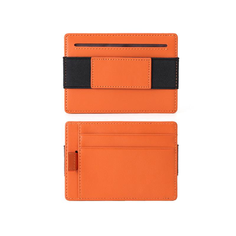 Mens Slim Front Pocket Wallet - RFID Minimalist Elastic Credit Card Holder Wallet