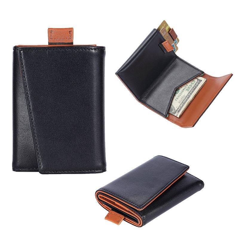 RFID Leather Trifold Wallets for Men- Slim Front Pocket Mens Wallet Handmade Leather Wallet