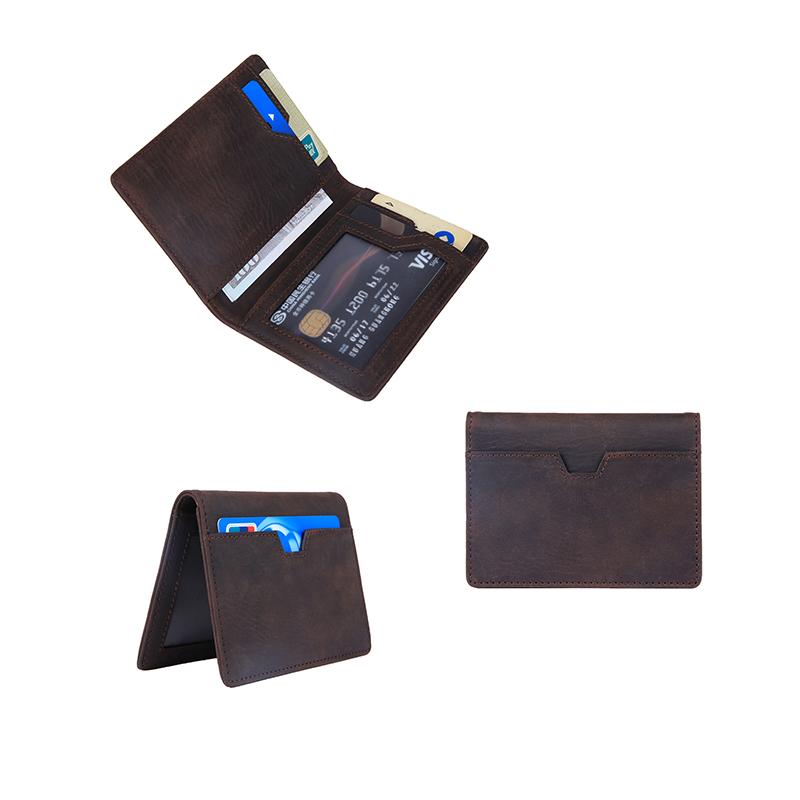 Wallets for Men Slim Mens leather RFID Blocking Minimalist Card Front Pocket Bifold Travel Thin wallet