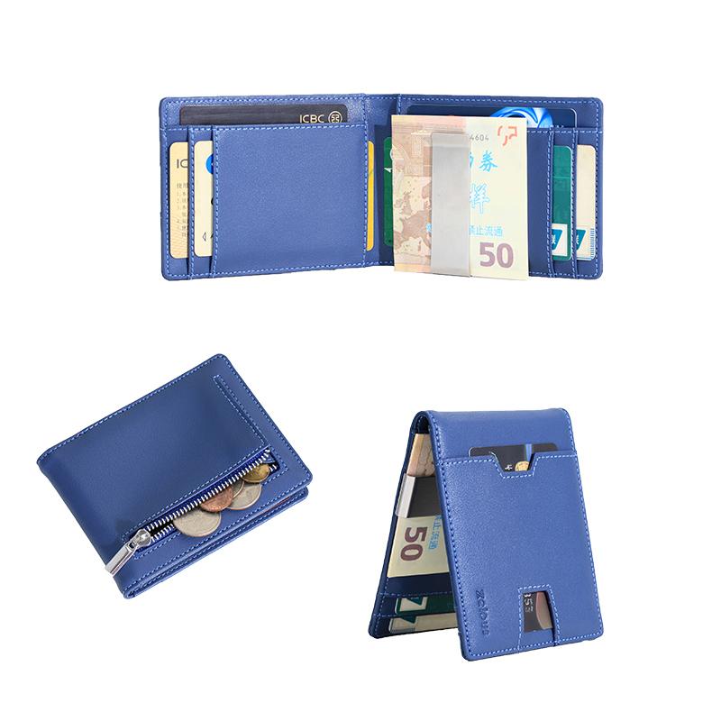 Money Clip Wallet Mens Wallets slim Front Pocket RFID Blocking Card Holder Minimalist Mini Bifold Wallet Gift Box