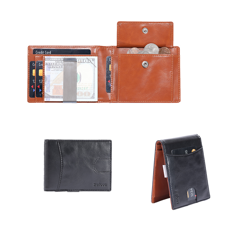 Slim Rfid Wallet Minimalist Card Holder Wallet Wholesale leather wallet LT-BMM063